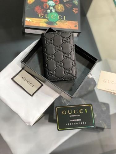 "Визитница Gucci черная принт в стиле ""GG"""
