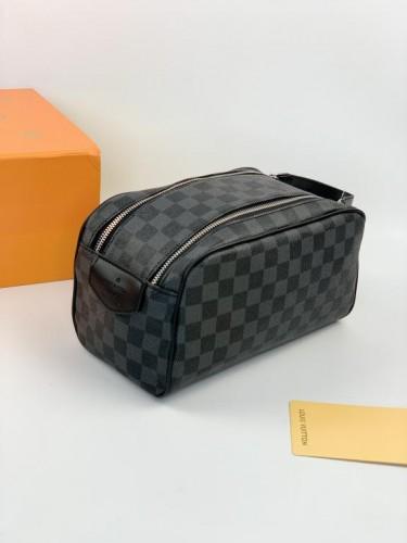 Барсетка Louis Vuitton серая шашка