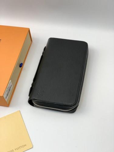 Бумажник Louis Vuitton черного цвета с боковой ручкой на два отделения