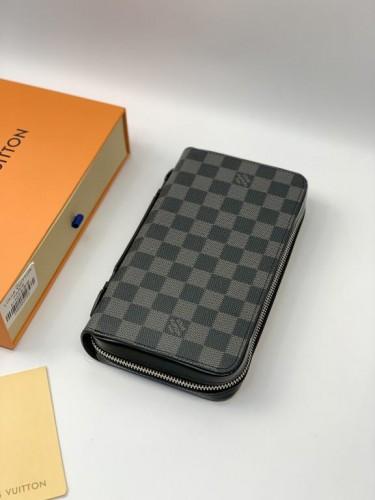 Бумажник Louis Vuitton серого цвета с ручкой на два отделения