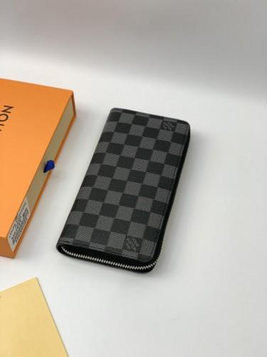 Кошелек Louis Vuitton серая шашка на молнии