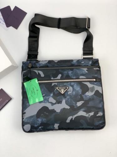Мессенджер Prada текстильный расцветка синий камуфляж