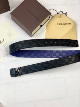 Ремень Louis Vuitton двухсторонний черно-синий