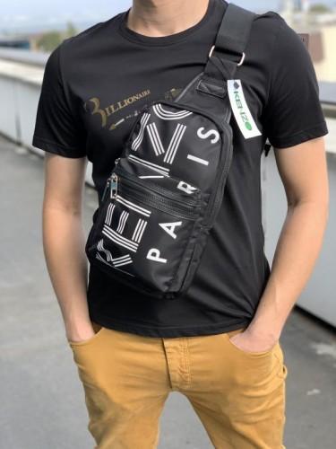 Слинг Kenzo черный с белым логотипами