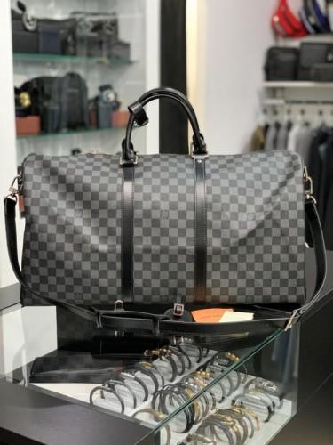Дорожная сумка Louis Vuitton серая шашка