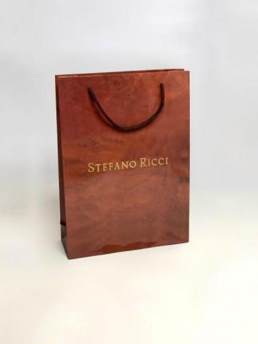 Пакет Stefano Ricci коричневый маленький