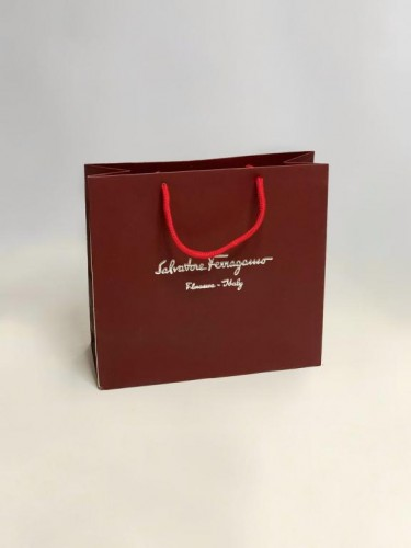 Пакет Salvatore Ferragamo бордовый маленький