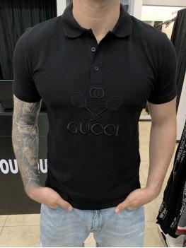 Поло Dolce Gabbana черное принт теннисные ракетки
