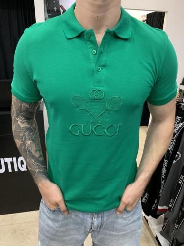 Поло Gucci зеленого цвета принт теннисные ракетки