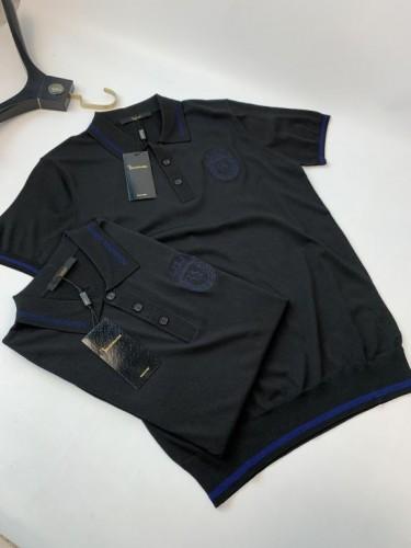 Поло Billionaire черного цвета с логотипом на груди