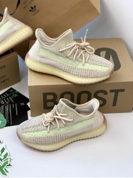 Кроссовки Adidas Yeezy Boost 350 Citrin бежевые