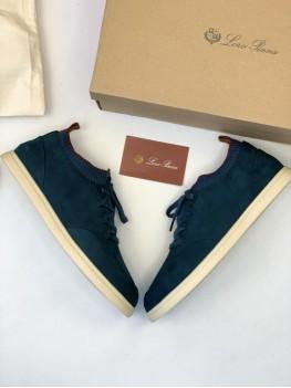 Кроссовки Loro Piana темно-синего цвета