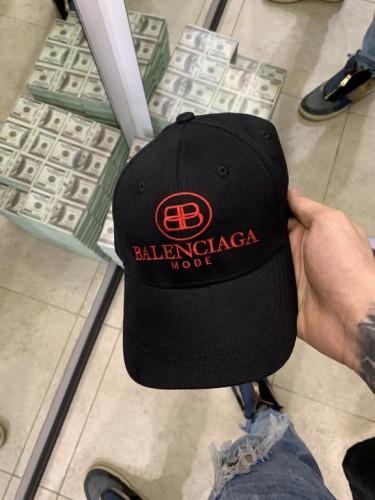 Кепка Balenciaga черная красный принт