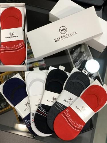 Носки Balenciaga силиконовая пятка разноцветные