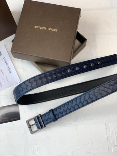 Ремень Bottega Veneta синий матовая пряжка